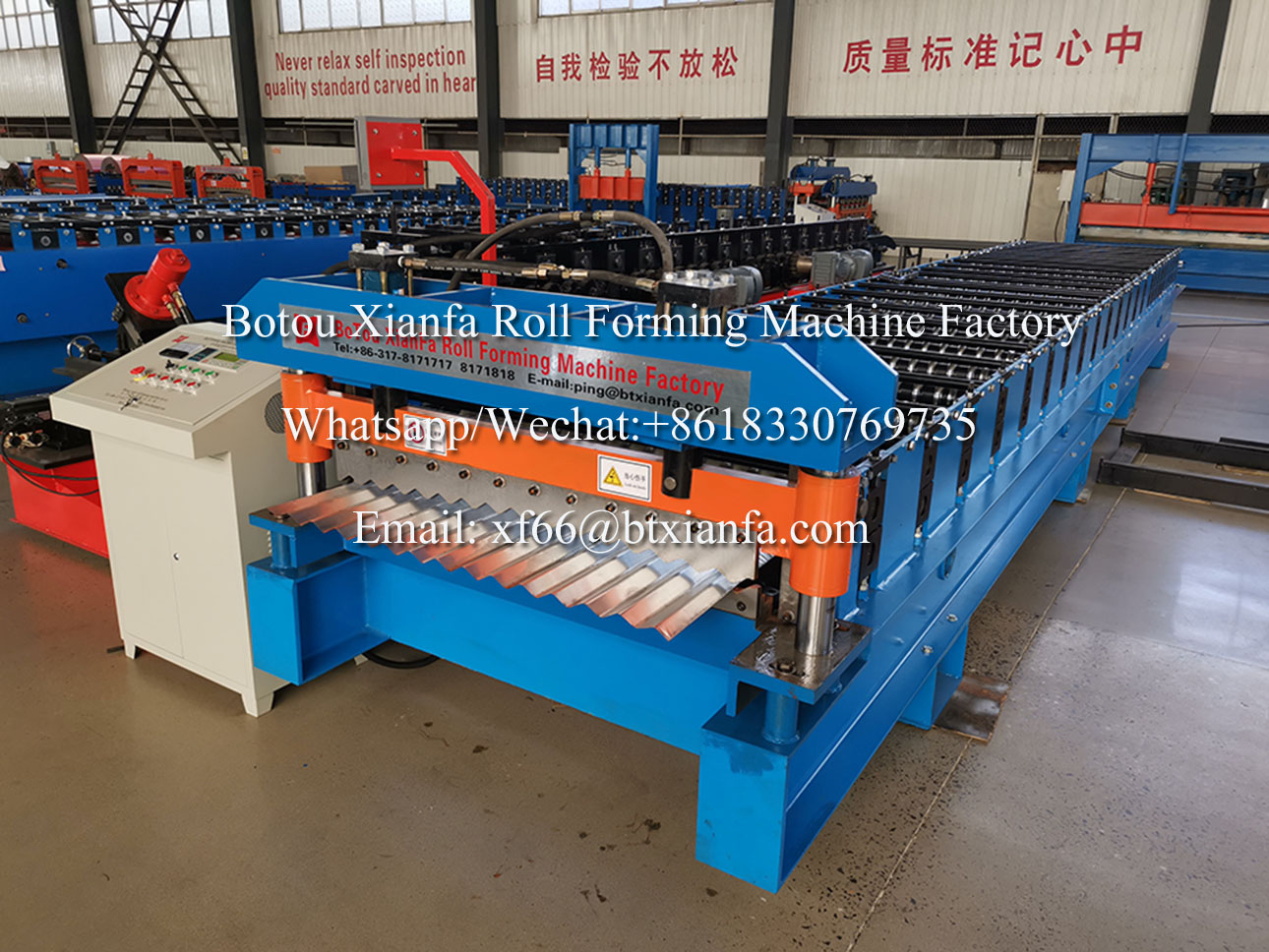 single layer roll forming machine