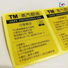 A cor imprimiu etiquetas autoadesivas da etiqueta do teste para a etiqueta do selo do material do electroner