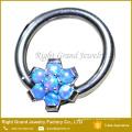 Зубец Набор Цветок Синтетический Огненный Опал Лучший Друг Кольцо