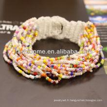 bracelet de perles de graine à la mode