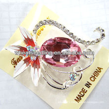 2015 Fashion Custome Pink Swan Crystal Brooches BR14