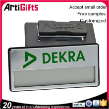 Cheap custom square name plate embossed badge
