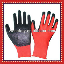 13Gauge Rot Nahtlose Knit Nitril-Handschuhe