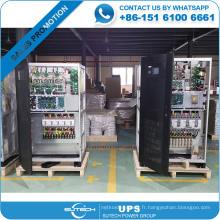 Entrée de 3 phases et UPS de l'industrie 300kva de sortie de phase 3 pour la banque / hôtel / hôpital / utilisation de base de données