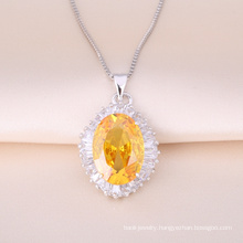 Silver Pendant Necklace with Beautiful cz sonte for Valentine's Day Gift