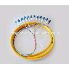 Outdoor 12 Cores fiber optic pigtail LC/UPC connector fiber cable pigtail
