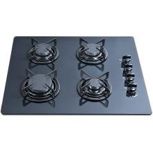 Verre trempé construit dans la cuisinière à gaz de 4 brûleurs, cuisinière à gaz