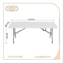 Precio de fábrica Material de metal al aire libre mesa plegable HDPE