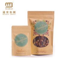 Custom Design Printing Heat Sealing Ziplock Aluminium Foil Kraft Paper Bag For Tea Packaging