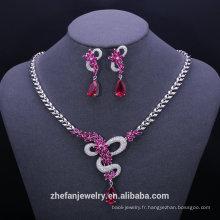 Bijoux en or massif 24k plaqué or collier ensemble élégant bijoux de mode ensembles