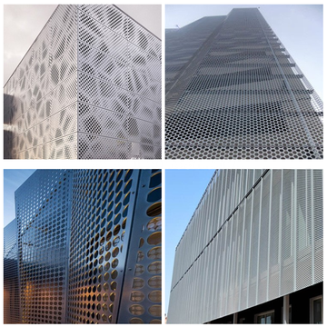 SS eller Aluminium Architectural Perforated Metal Mesh