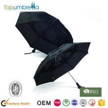 3 складной авто открытия и закрытия ветрозащитная черного цвета зонтик