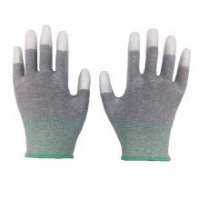 Carbon Fiber PU Finger Dipped Coated Anti Static ESD Work Gloves For Electricity