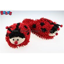 Soft Girl Slipper Indoor Red Ladybug Início Chinelos