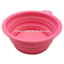 Fashionable Food Grade Eco-friendly Waterproof Pet Bowl Silicone Dog Cat Bowl/Collapsible Pet Dog Cat Bowl
