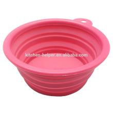 Alimento de qualidade elegante Eco-friendly Waterproof Pet Bowl Silicone Dog Cat Bowl / colapsável Pet Dog Cat Bowl