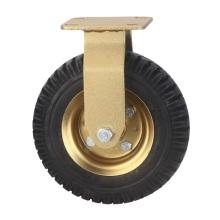 200 mm Fixed Pneumatic Double Ball Bearing Caster 5mm Bracket