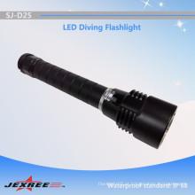 Alibaba China fornecedor Jexree subaquática mergulho lanterna / água do mar levou tocha com acessório 18650 li-ion bateria