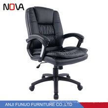 Anji Best Low Cost Double Leather Cushion Revolving Office Desk Chair