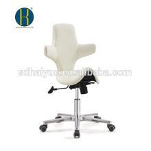China Made white PU modern styling stools furniture with five-star base