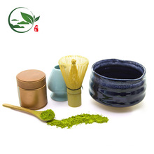 Kundengebundene Glas Matcha Schüssel-Zeremoniesätze einschließlich Schüssel-Schaufel wischen Halter