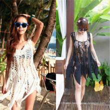 Korean Style Hollow out Lace Cover up Dress Swimwear (50166)