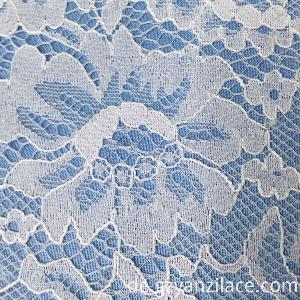 Chantilly Tulle Floral Lace Fabric for Dress