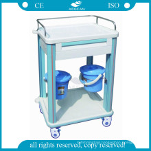 AG-CT006B1 With one drawer hospital plastic material nursing ABS clinical cart for sale