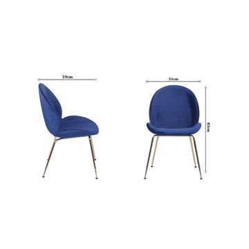 Nuovo design dorato Gubi Beetle Chair