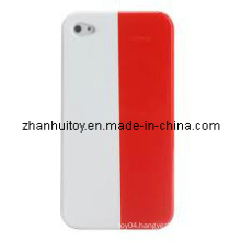 Poland Flag Pattern Back Hard Protective Cover Case Shell for iPhone 4.JPG