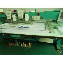 2 cabezales mezclados de bobinado y Tapping máquina de bordado