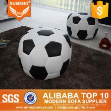 Уникальный дизайн футбольной формы пуфы для продажи,круглое footsool