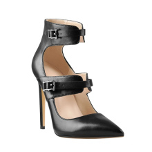 New design women fashion women high heel sandals shoes custom design shoes buckle strap sandals for Ladies