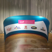 Customized portable semi-circle exhibition booth bacdrop tension fabric wall display stand for trade fair