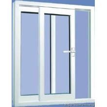 Fenêtre coulissante adaptée aux besoins du client de PVC de fenêtre en verre double