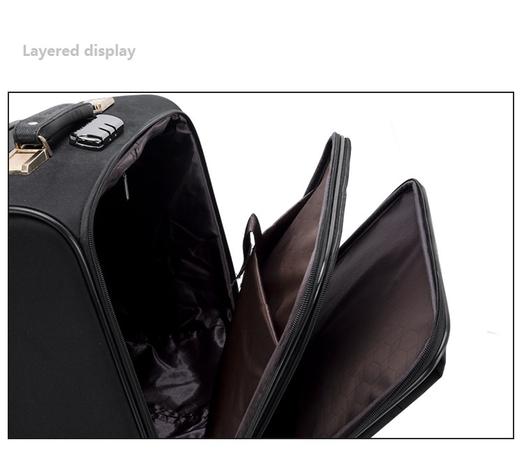 Layered display trolley bag