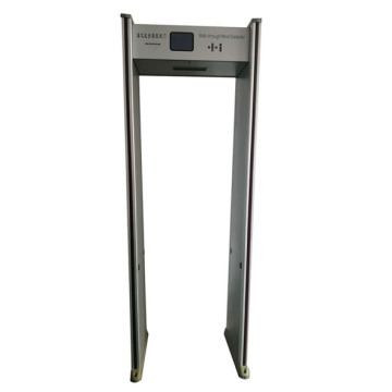 Detector de metales de 6 zonas LCD walk-through