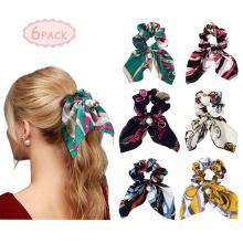 Scarf Scrunchies Pearls Silk Satin Hair Band