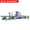 Фабрика панели поставка деревянной мебели шкафа лучшей цене вложенности CNC машина с автоматическая загрузка и разгрузка системы