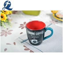 Tasse en céramique de tasse de poignée de café de thé bon marché faite sur commande de mode