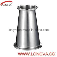 Accesorio para tubería de reducción de acero inoxidable de calidad alimentaria