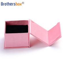 OEM custom LOGO Printed jewelry boxes display ring bangle gift box velvet