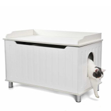 Dual Use 2 in 1 Partition Design Wholesale Cat Litter Box Furniture