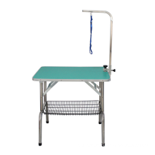 Factory Price Pet Grooming Table Vet Beauty Table Pet Hairdressing Table with Basket Stainless Steel