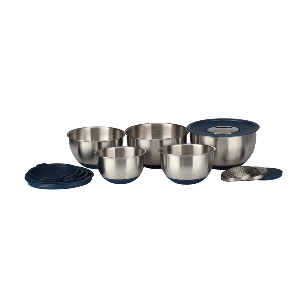 Anti Slip Bottom Salad Bowl Set