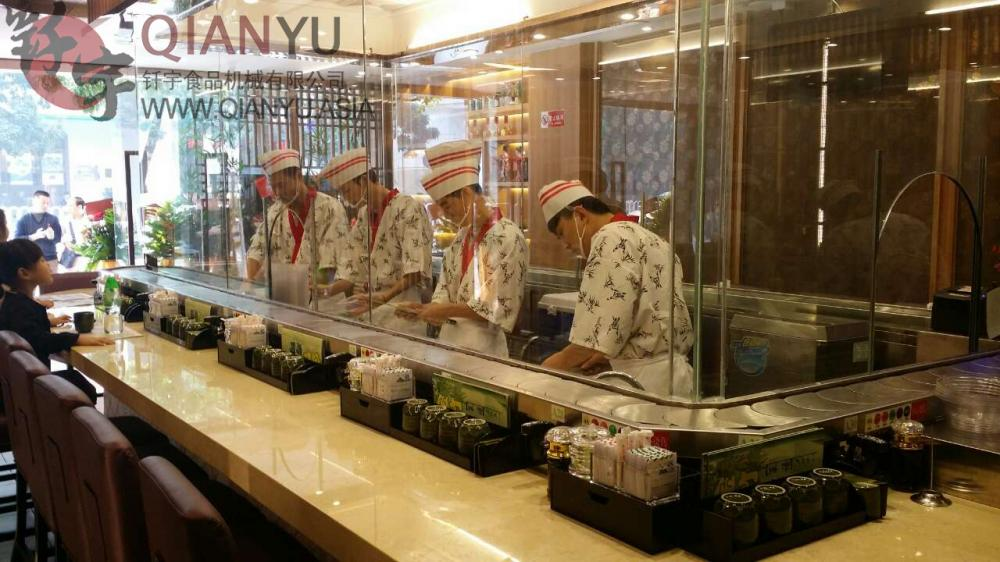 Wearproof Chain Conveyor Custom Sushi Conveyor