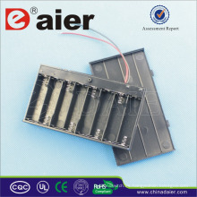 Daier soporte de la batería 12v con cubierta soporte de la batería 8 aa