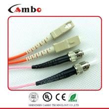 Simplex / Duplex SM / MM FC-SC Fiber Patch Cord Na Rede de Comunicação de Dados