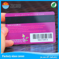 Impresión de tarjeta de regalo de membresía de banda magnética / tarjeta VIP de lealtad