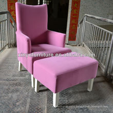 Modern pink arm sofa chair with footstool XY0852